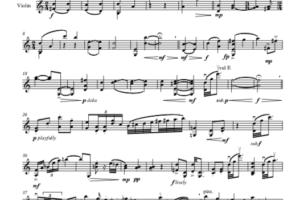 violin suite music notes