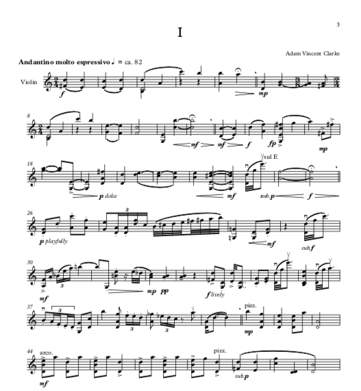 violin suite music notes